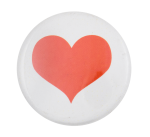 Small Red Heart Social Lubricator Button Museum