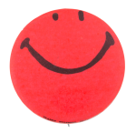 Bright Red Smiley Smileys Button Museum