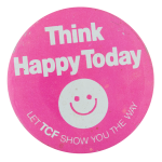 Think Happy Today Smileys Button Museum