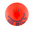 Bob Bily Smiley Red  Smileys Button Museum
