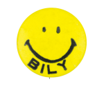 Bob Bily Smiley Yellow Political Button Museum