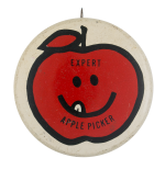 Expert Apple Picker Smileys Ice Breakers Button Museum
