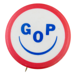 GOP Smiley Face Political Button Museum