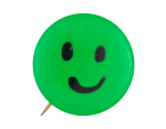 Green Smiley 2 Smiley Button Museum