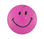 Pink Smiley One Smileys Button Museum