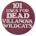 Dead Villanova Wildcats Sports Button Museum