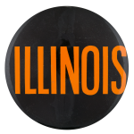 Illinois Black and Orange Sports Button Museum