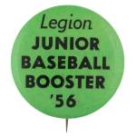 Junior Baseball Booster 56 Club Button Museum