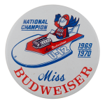Miss Budweiser Boat Sports Busy Beaver Button Museum