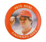 Pete Rose Cincinnati Reds Sports Button Museum