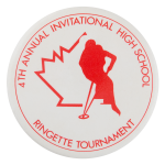 Ringette Tournament Sports Button Museum