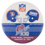 Super Bowl XXI Sports Button Museum