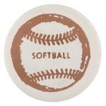 Softball Sports Button Museum
