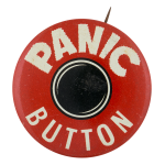 Panic Button round Self Referential Button Museum